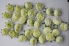 100 Green yellow Silk flower head rose wedding decoration  Free Shipping