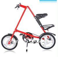 "16"" wheel folding bike aluminium alloy frame foldable bike portable sport bicycle integrate wheel high quality A-bike"