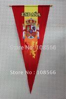 Wholesale spain pennant  45*105 cm /  red hang flags