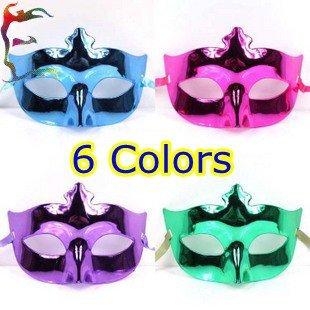 Wholesale light electroplating girl woman tine party masks 20pcs/Lot Halloween fashion half face Masquerade mask Free shipping