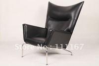 Hans J Wegner CH445 Wing Chair, wegner leather lounge chair