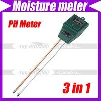 3 in 1 Plant Flowers Soil Test Kits PH meter Moisture Meter Light Illuminance Analyzer #1419