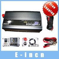 NEW 1000W Car 12v DC to 220v AC Power Inverter with USB Port,free shipping