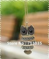 Min.order is $15 Free shipping Fashion Necklace Bronze Cute Owl Necklace With Big Eye Pendant Vintage Necklace 2 colors N1