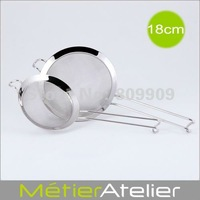 18cm Mesh strainer 18/10 stainless steel brand new 10pcs/lot  TB0122