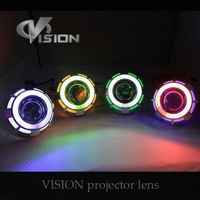 "Mini  2.5""inch  two angle eyes bi xenon projector lens hid headlights"