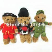 New Items  9.8'' England Soldier Teddy Bear plush Toys UK Margaret Bears dolls 20pcs Policeman Bear Christmas Gifts