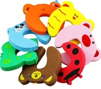 Min Order $20 (mixed order) Retail Baby Animal Cartoon Door Jammers Stop Stopper Holder Lock Safety Guard Finger Protect (KF-08)