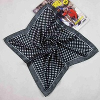 Small black dot print facecloth silk scarf free shipping lose money promotion