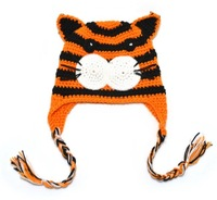 "Cute handmade crochet ""SMALL tiger"" model free shipping"