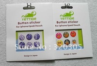 100Set =600Pieces Button Sticker For Iphone Ipad Home Button