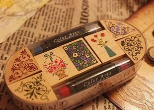 C31-158 Free Shipping / New vintage flowers angle lace wooden stamp set / 2 series for choose