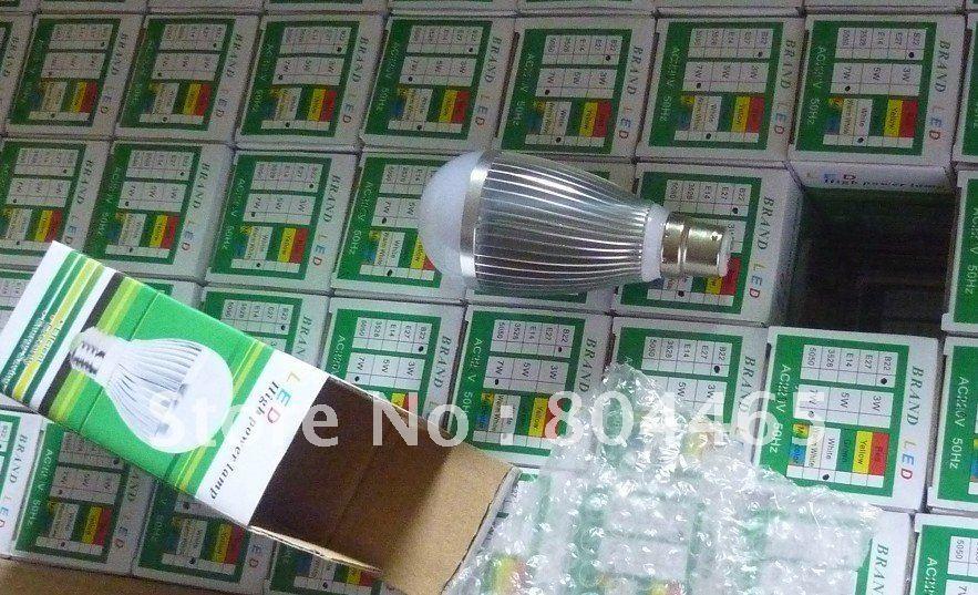 B22/E27 7w A19 led bulbs,50pcs/lot,Bridgelux chip 7w COB LED G60 bulbs,85v-265v,for home,office lighting,home application(China (Mainland))