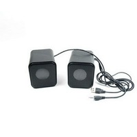 Free Shipping Portable a pair of Home 3D Audio Black Compact Mini Box Speakers for PC Laptop Mobile MP3 iPod DVD E02050024