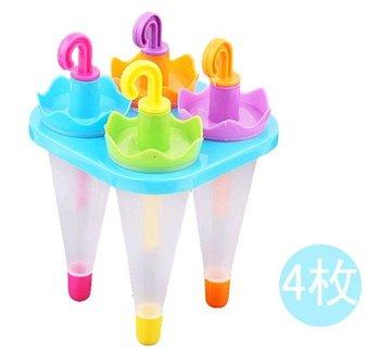 Retail 4pcs/set DIY Ice Cream Sticks Box / Cute Umbrella Style Popsicle Molds (SX-88)