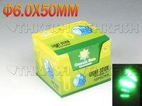 EMS!! 500PCS(500pcs=250bags=5boxes) Dia:6.0X50MM Night Fishing Lighting Stick Wand Green chemical glow stick fishing
