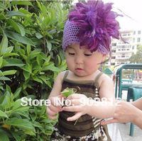 Large flower children's hair bands, Baby hair clip, Purple charm headbands