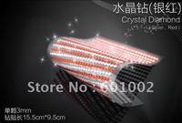 918 3mm silver red Crystal Bling Rhinestone Car auto Decoration Sticker decal