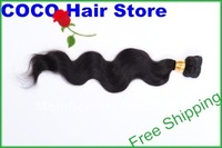 European Virgin hair,Body wave 10&quot;-32&quot; Hair extensions,and Silky Queen hair,Natural Black #1b,Free Shipping,1 pcs
