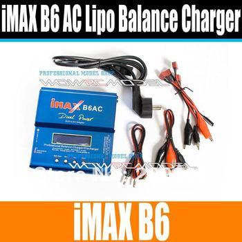 EST 80W iMAX B6 AC B6AC 3S Lipo/NiMH RC Digital Battery Balance Charger for Trex ...