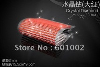 918 3mm red Crystal Bling Rhinestone Car auto Decoration Sticker decal