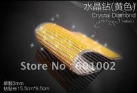 918 3mm yellow Crystal Bling Rhinestone Car auto Decoration Sticker decal