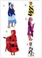 4pcs/lot- 3 styles Baby bathrobe/kid'S bathrobes/chidlren's bathrobe/infant hooded bath towel/Animal cartoon/modeling bath robe