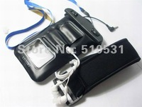popular pvc Waterproof bag armband for iphone 4 4S,diving case with waterproof headset,retail and wholesale,freeshipping
