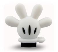 TRENDY USB FLASH PEN DRIVE BLACK WHITE 3D MICKEY GLOVE 2GB/4GB/8GB/16GB MEMORY STICK
