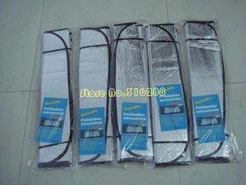 Free Shipping! Sunshading board  / sunvisor  Folding Car Windshield Aluminum foil / sun block , space saving visor  good quality