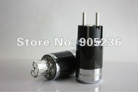 SONARQUEST Carbon Fiber Series EU Silver plated Power plug Connector
