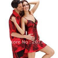 Женские ночные сорочки и Рубашки 2085 2012 hot selling, high quality silk women's spaghetti strap nightgown, ladies sleepwear, retail