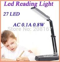 1pcs/lot Dimmable led reading light 27 led table Light folding charge lamp