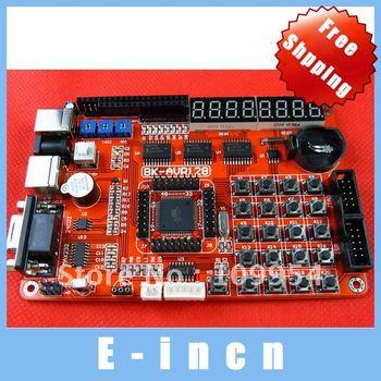 1pcs AVR MCU ATMEGA128A Development Board Kit Study board ATMEGA128A chip,free shipping