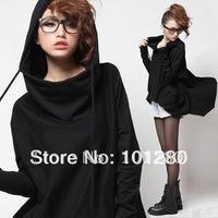 2014 spring fashion plus size jacket 100% cotton long-sleeve hoodies star style loose sweatshirt SH10641 FREE SHIPPING
