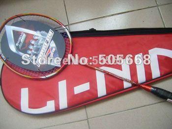 Promotions! 2 pecs Lining N90II Badminton Racket,badminton racquet