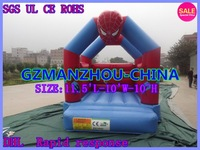 Free Shipping  High efficiency, safety SIZE:11.5'L-10'W-10'H +BLOWER   Inflatable trampoline  Spider-man, superman, iron man,