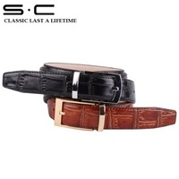 S.C Free Shipping 10 pcs per lots+ Cow Leather mens waist belt + Adjustable Leather Belt with Buckles fashion 2011 gift box