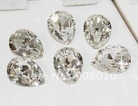 Стразы для одежды 18*25mm oval shape pointback rhinestones crystal clear color, special rhinestones for making dress, clothings, bags, DIY