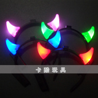 Horn headband flash small horn light led Christmas halloween decoration props flash toys