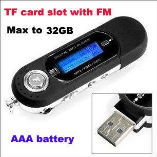 50pcs/lot USB Digital FM MP3 Player with TF card slot,mp3 factory,mp3 manufacturer(Hong Kong)