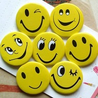 240pcs(5 packages) smileface children prize Badge free shipping kid gifts KAWAI badges