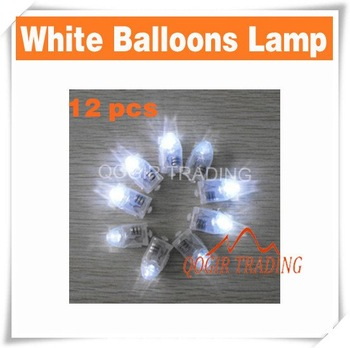 12 LED Christmas Party Lights Lamp For Paper Lanterns Balloons Floral  D8232