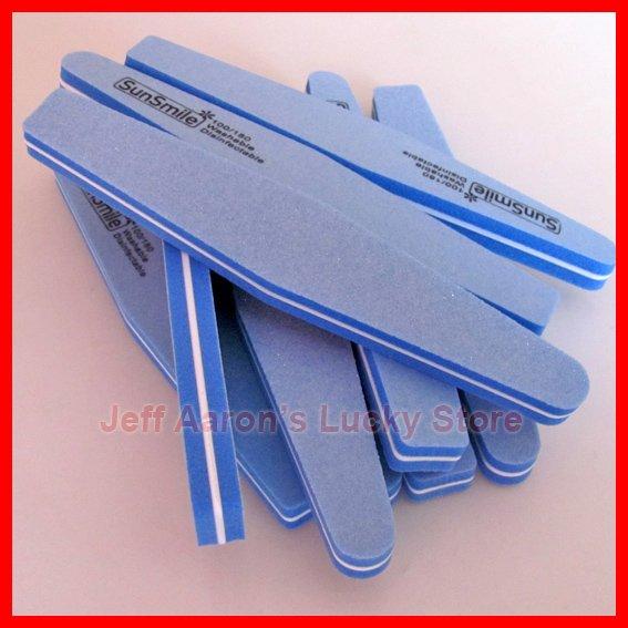 high quality 100/180 Double Side Diamond Fancy Nail File Buffer Sanding Washable Manicure Tool Wholesale(China (Mainland))