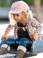 free shipment new arrival autumn style fashion outer wear+T-shirt+pant 5sets/lot  baby&#39;s suits girl&#39;s suits 20120712B
