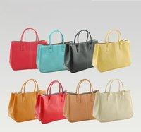 Wholesale - On sale Faux Leather Women's Tote Shoulder Bags Handbag Red Brown Pastel Pink Beige Korea tote
