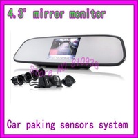 4.3 inch Digital TFT-LCD car parking system with reverse camera and 4 parking sensors