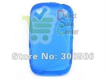 for Blackberry 9320 Case,S line Soft TPU Gel Wave Curve Cover Skin Case for Blackberry Curve 9320 9220 Free Shipping