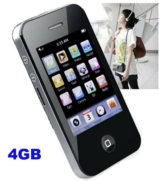 "Free shipping New 2.8"" Full 4GB Digital Touch Screen Flash MP4 Player with Camera Speaker"