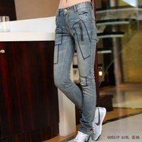 Fee shipping 2012 spring/autumn low-waist split one piece vest denim set zipper trousers plus size jumpsuits women 1518HX